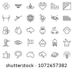 thin line icon set   around the ... | Shutterstock .eps vector #1072657382