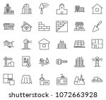thin line icon set  ... | Shutterstock .eps vector #1072663928