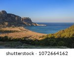 tsambika beach   the most... | Shutterstock . vector #1072664162