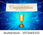 gold cup winner congratulations ... | Shutterstock . vector #1072665152