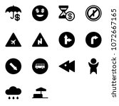 solid vector icon set  ... | Shutterstock .eps vector #1072667165