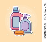 cleaning supplies design | Shutterstock .eps vector #1072667978