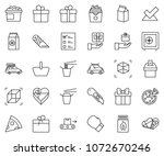 thin line icon set   safe... | Shutterstock .eps vector #1072670246
