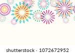 firework border seamless... | Shutterstock .eps vector #1072672952