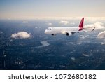 aerial view from a flying plane ... | Shutterstock . vector #1072680182