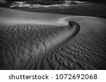 Black And White Abstract Desert
