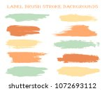 retro label brush stroke... | Shutterstock .eps vector #1072693112