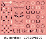 vector illustration with design ... | Shutterstock .eps vector #1072698902