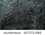 Floral Design Embossed To Blac...