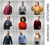 group of mixed people  women...   Shutterstock . vector #1072714406