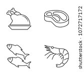 set of vector icons with meat ... | Shutterstock .eps vector #1072717172