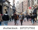 amsterdam  holland   14 april... | Shutterstock . vector #1072717532