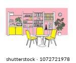 interior design vector... | Shutterstock .eps vector #1072721978