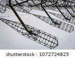 soviet horizont radar station ... | Shutterstock . vector #1072724825