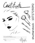 design a certificate for the... | Shutterstock .eps vector #1072725092