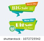 big sale  low prices  limited... | Shutterstock .eps vector #1072725542