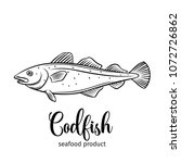 vector codfish. hand drawn icon ... | Shutterstock .eps vector #1072726862