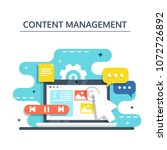 content management  smm and...   Shutterstock .eps vector #1072726892