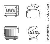 line icons kitchen utensils... | Shutterstock .eps vector #1072727105