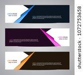 modern banner vector for your... | Shutterstock .eps vector #1072753658