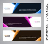 modern banner vector for your... | Shutterstock .eps vector #1072753682