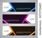 modern banner vector for your... | Shutterstock .eps vector #1072753685