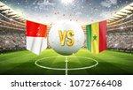 poland vs senegal. soccer... | Shutterstock . vector #1072766408