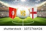 fifa cup. tunisia vs england.... | Shutterstock . vector #1072766426
