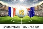 france vs australia. soccer... | Shutterstock . vector #1072766435