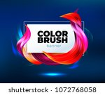 colorful geometric background.... | Shutterstock .eps vector #1072768058
