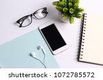 modern white office work table... | Shutterstock . vector #1072785572