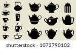 teapots and cups vector... | Shutterstock .eps vector #1072790102