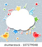 Music Notes With Speech Bubble...