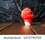 red hawaiian shaved ice  shave...   Shutterstock . vector #1072790705