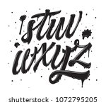 graffiti dirty letters. spray... | Shutterstock .eps vector #1072795205
