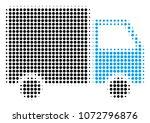 shipment van halftone raster... | Shutterstock . vector #1072796876
