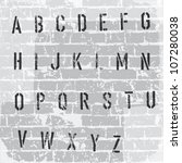 stencil grunge alphabet. vector ... | Shutterstock .eps vector #107280038