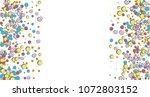 vertical border from confetti... | Shutterstock .eps vector #1072803152