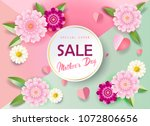 sale banner for mother's day ... | Shutterstock .eps vector #1072806656