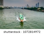 chao phraya river  with boat ... | Shutterstock . vector #1072814972