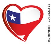 chili flag in shape of heart | Shutterstock .eps vector #1072821518
