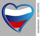 russia flag  in shape of heart | Shutterstock .eps vector #1072821542