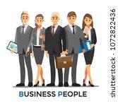 businessmen consulting  ... | Shutterstock .eps vector #1072822436