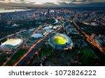 melbourne aerial skyline | Shutterstock . vector #1072826222