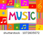 music. musical background with... | Shutterstock .eps vector #1072835072