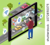 smart parking vector...   Shutterstock .eps vector #1072850375