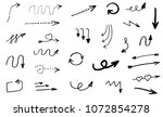 doodle hand drawn vector arrows  | Shutterstock .eps vector #1072854278