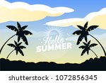 the summer holidays background | Shutterstock .eps vector #1072856345
