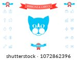 cat   logo  protect sign icon   Shutterstock .eps vector #1072862396