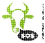 cow sos message halftone vector ... | Shutterstock .eps vector #1072868618